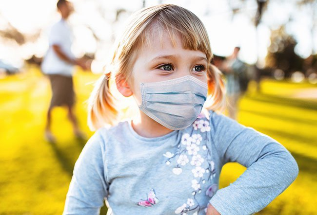 Masks can be safely worn by all children 2 years of age and older, including most children with special health conditions, with rare exceptions. Children under 2 years should not wear a mask due to the risk of suffocation.
