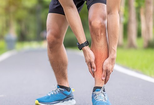 Shin splints are injuries to the front of the outer leg caused by overuse, and typically happens to runners or aggressive walkers. Shin splint pain can be extreme enough to prevent you from working out. Rest is usually the best treatment for shin splints, and you can also ice the injury and take over-the-couner (OTC) pain medicine to relieve pain.