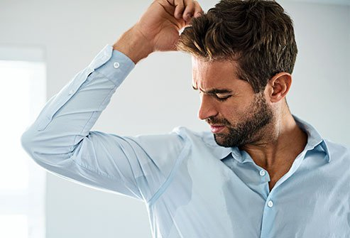 Hyperhidrosis (excessive sweating) can lead to embarrassment.
