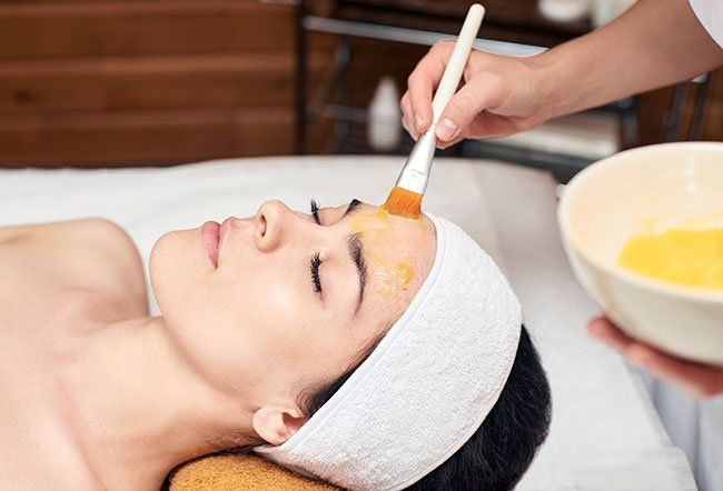 Glycolic acid is an alpha hydroxy acid (AHA) that dissolves the bonds between dead skin cells on the face