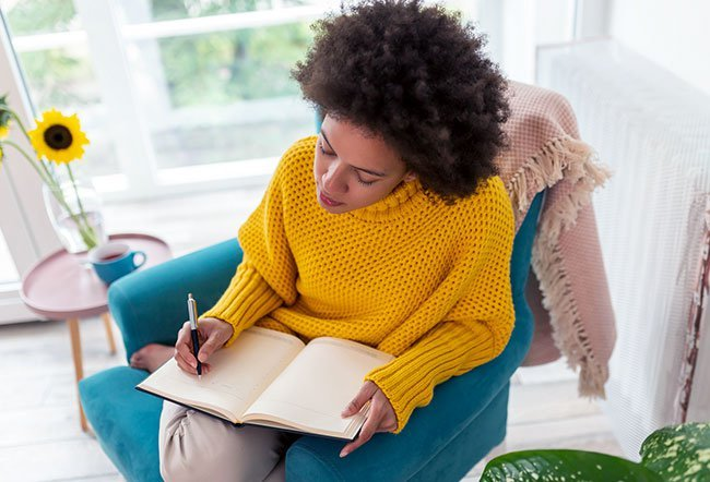 Journaling is the process of writing down your thoughts, ideas, and feelings. While writing your way out of depression might not be possible, journaling may help lower symptoms of depression.