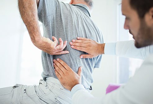 Back pain and morning stiffness are symptoms of nr-axSpA.