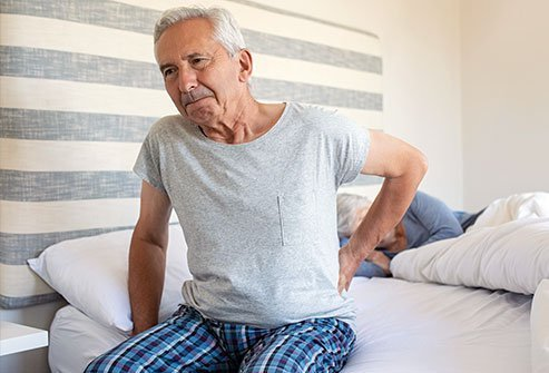 Muscle pain and joint stiffness are symptoms of polymyalgia rheumatica.