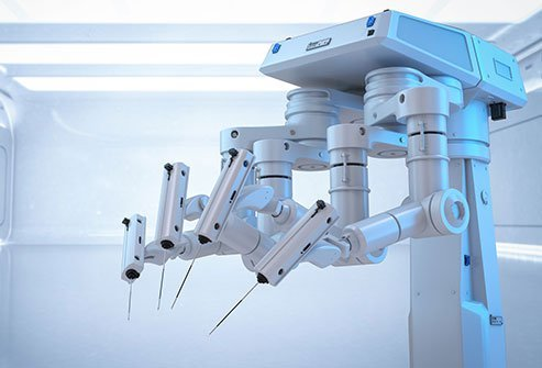 Robotic gynecologic surgery is similar to laparoscopic surgery except for the way the surgeon operates.