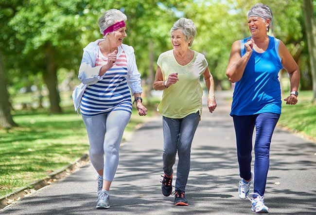 Regular exercise results in better health outcomes for seniors.