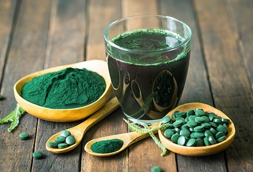 Spirulina is a dietary supplement made from blue-green algae or cyanobacteria