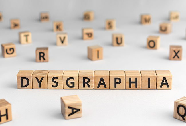Dysgraphia is a learning disorder. Some of the symptoms of dysgraphia include spelling words wrong, frequent erasing, inconsistent handwriting and others.