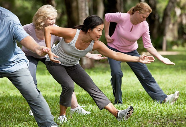 Tai chi is an ancient martial art that involves graceful, flowing movements and may have some health benefits.