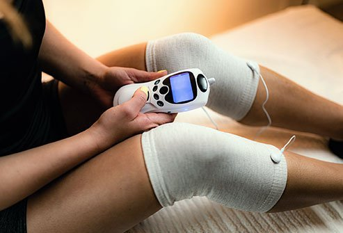 TENS (transcutaneous electrical nerve stimulation) delivers current to sore muscles, reducing pain for many.
