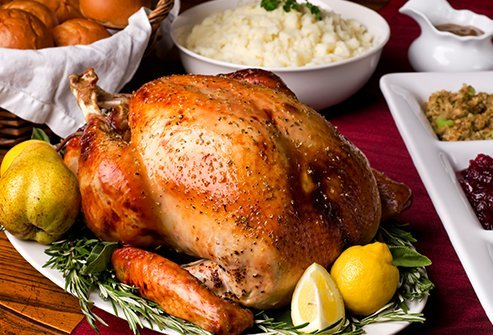 Though turkey contains tryptophan, it's probably not the main culprit in causing post-holiday meal sleepiness.