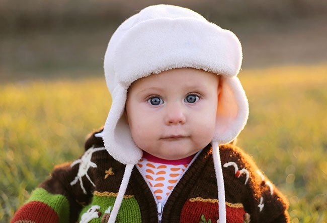An 8-month-old baby
