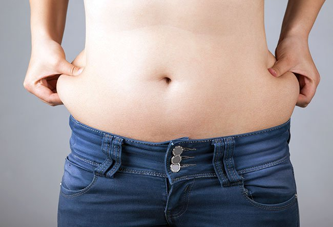 Love handle is slang for fat accumulation at the waist.