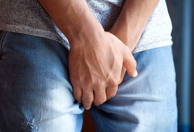 Scrotal itching is a symptom of pruritis scroti.