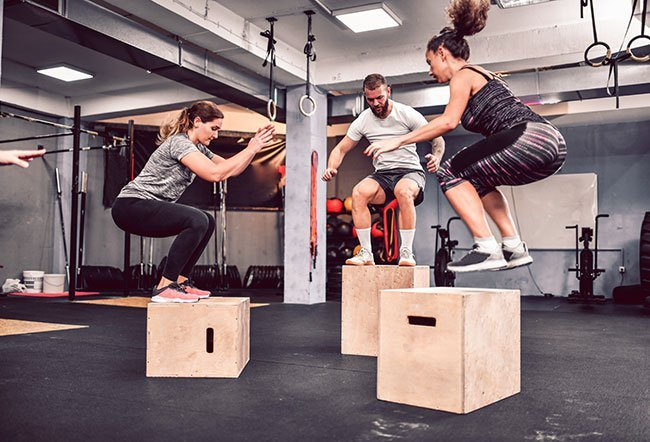Jumping exercises are anaerobic exercises that involve quick bursts of energy. The benefits of jumping include improved cardiovascular health, metabolism, bone density, strength, muscle tone, balance and coordination.