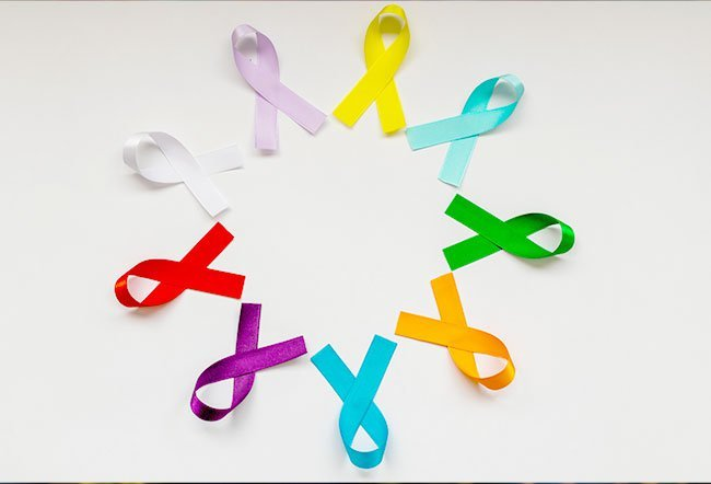 There are many different color ribbons people choose to wear to honor or support loved ones who have cancer, and also spread awareness about that type of cancer. Each color is chosen by certain organizations that provide support, education, and awareness for each of the individual cancers.