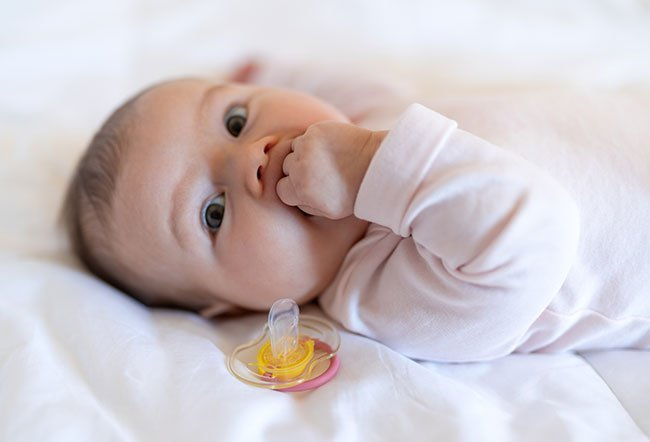 Your three-month-old baby has made tremendous development since birth. Babies who are three months of age have achieved developmental milestones in moving, speaking, interacting, thinking, sensing and sleeping.