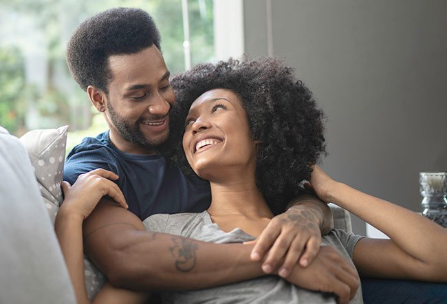Cuddling is an excellent way to de-stress and create intimacy.