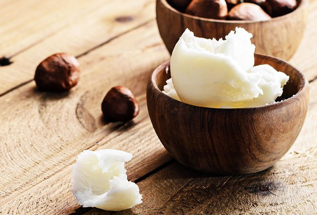 Shea butter is fat extracted from the nuts of the shea tree.