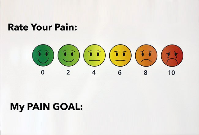 10 on the pain scale