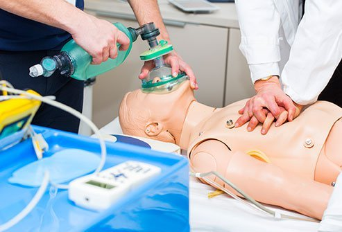Bag valve mask (BVM) ventilation is usually done in an emergency until intubation can be done.