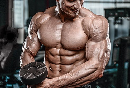 In hypertrophic training, people will do more sets and repetitions with lighter weights.