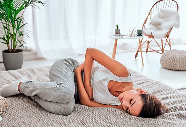 Dysmenorrhea or menstrual cramps occur when the uterus contracts strongly during menstruation.