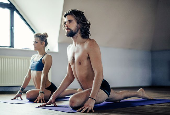 Hot yoga is different from regular yoga in one aspect, that is, exercising in a room with its temperature between 80 and 100°F.