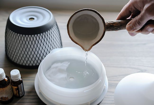 A diffuser is used to dispense essential oils in your room.