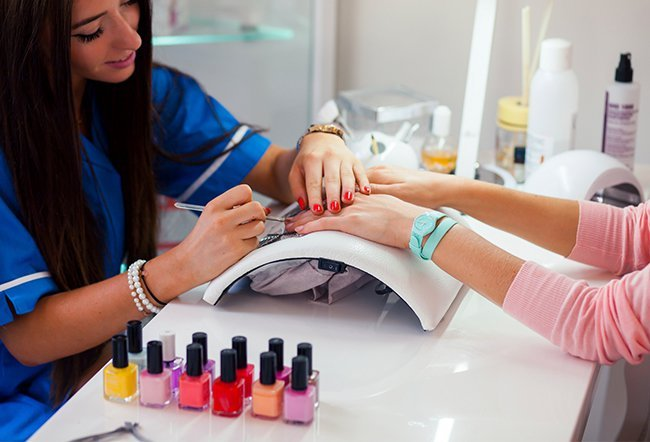 Your cuticle is an important part of your nail. This small strip of skin at the bottom of your nail acts as extra protection from germs entering your nail bed. Pushing them back incorrectly or cutting them too short can put you at risk of infection. A licensed nail technician can do this for you safely.