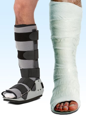 Picture 3 shows the type of casts used to treat Achilles tendon injury.