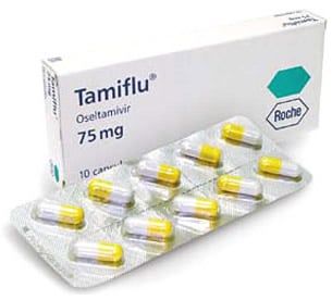 Picture of oseltamivir (Tamiflu)Oseltamivir (Tamiflu) is an antiviral agent that may prevent or reduce influenza A and B symptoms. Photo courtesy of the CDC