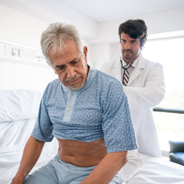 Lung cancer is caused by an abnormal growth of lung cells that become out of control. Stage IIIB, IIIC, and all stage IV lung cancers (also called metastatic lung cancer) are advanced stages of lung cancer in which cancer has spread (metastasized) to sites beyond the primary lung cancer tumor.