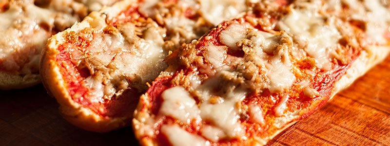 Image of microwaved pizza.