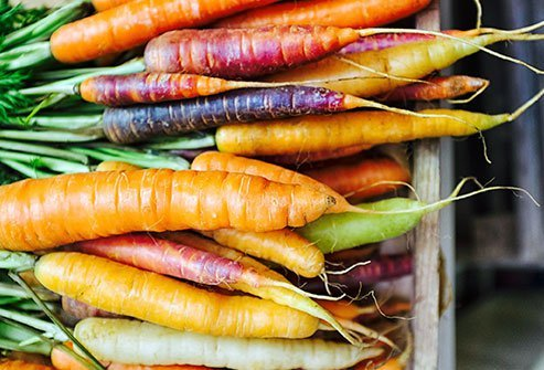 Carrots supply your body with a dose of immune-boosting beta-carotene.