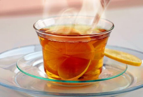 Antioxidants in tea are anti-inflammatory and if you add honey, tea soothes a sore throat, too.