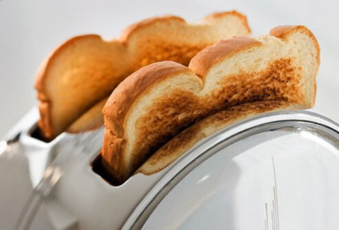 Part of the BRAT diet, toast is a good thing to eat if you're trying to settle your stomach.