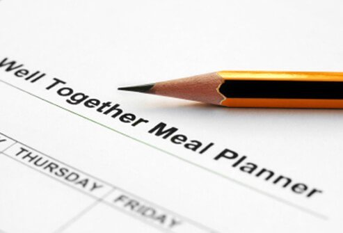 A meal planner can help you stay on your eating plan.