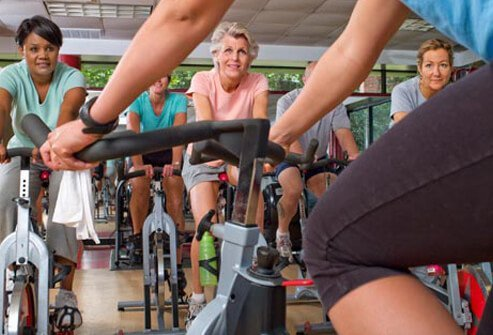 Photo of spin class.