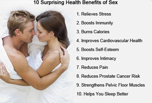 10 Surprising Health Benefits of Sex - Summary