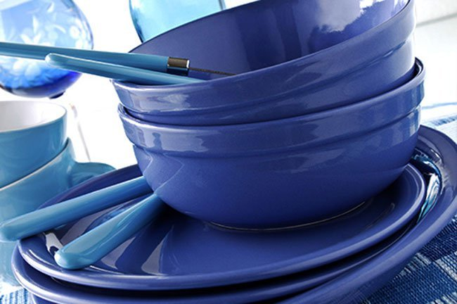 Believe it or not, using blue plates and dishes might reduce how much food you serve yourself.