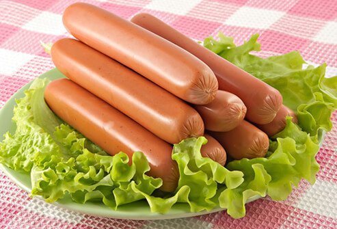 Hot dogs tend to contain lots of sodium and fat.