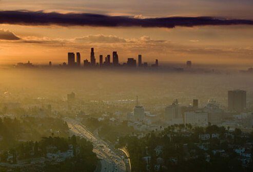 Photo of smog in Los Angeles.