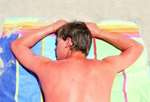 Too much time outdoors can result in sun-damaged skin, including actinic skin damage.