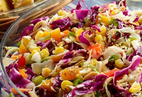 Photo of dressed up coleslaw.