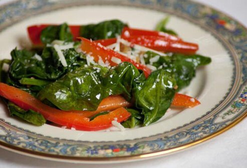 Photo of sauteed spinach.