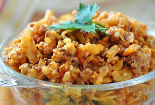 Photo of cabbage casserole.