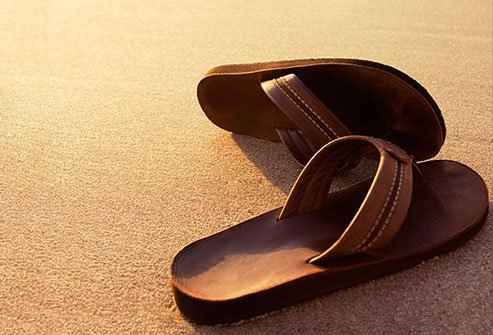 If you do wear flip-flops, wear ones that are made of high-quality leather which are sturdier.