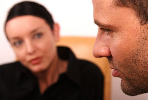 A man getting counseling to help with his cigarette addiction.