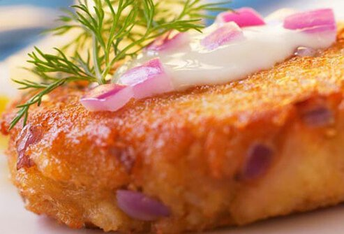 Photo of fish croquettes.