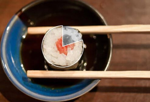 Photo of sushi on plate.